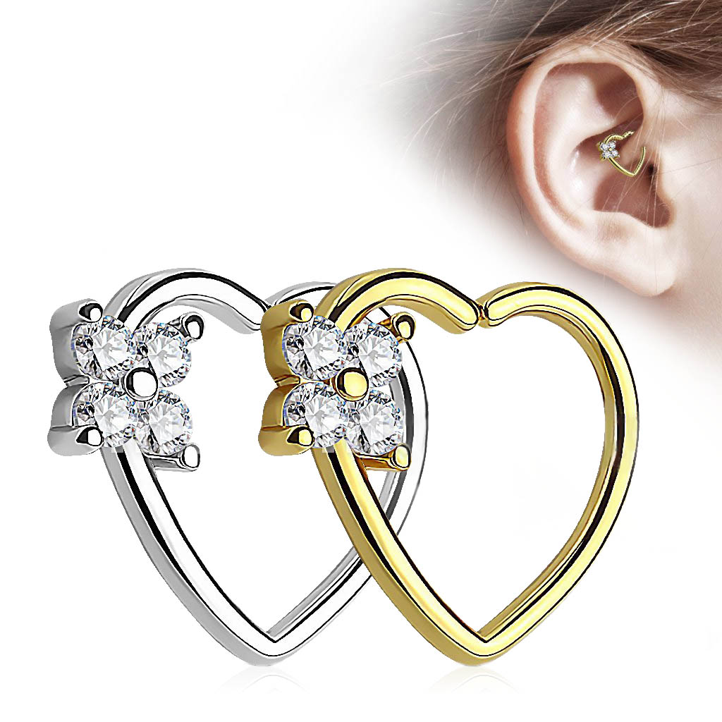 Inspiration Dezigns Pair of Playboy Bunny Centered CZ Paved Circle 316L Surgical Steel Nipple Shields